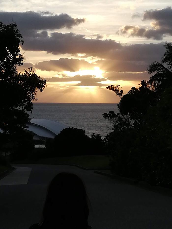 美ら海水族館からの夕日