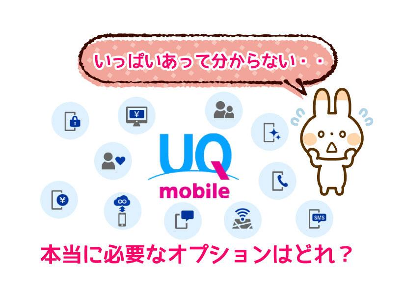 UQモバイルの必要なオプションはどれ